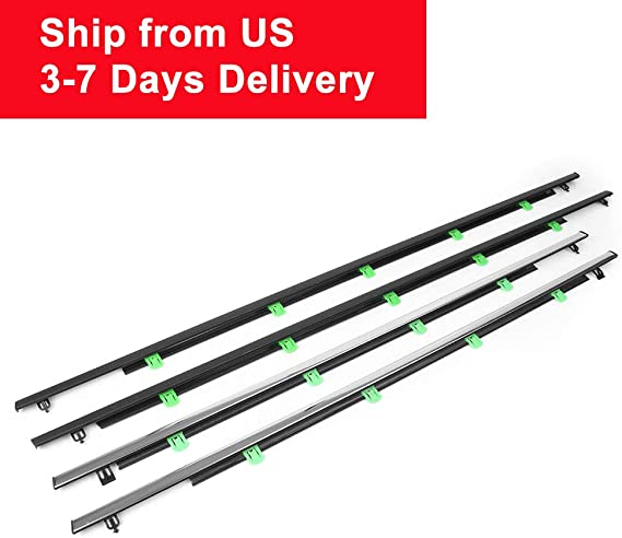 ZOYOSI 4Pcs Chrome Outside Window Door Trim Car SUV Weatherstrips Seal Tools Kit For CR-V 07-11