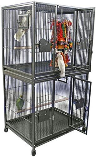 A E Cage Co. Double Stack Breeder Cage, 40 X30 , Black
