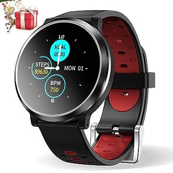HopoFit Smartwatch Reloj Inteligente, HF04 Impermeable IP67 Podómetro Pulsómetros con Monitor de Sueño, Caloría, Notificación Llamada y Mensaje, ...