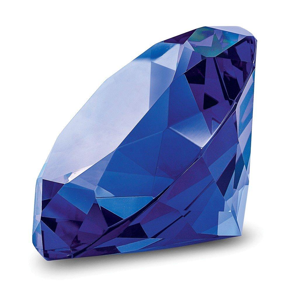 Blue Glass Gemstone Paperweight/Award