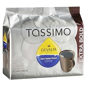 Tassimo Gevalia Dark Italian Extra Bold Roast Coffee T Discs (12 Count)