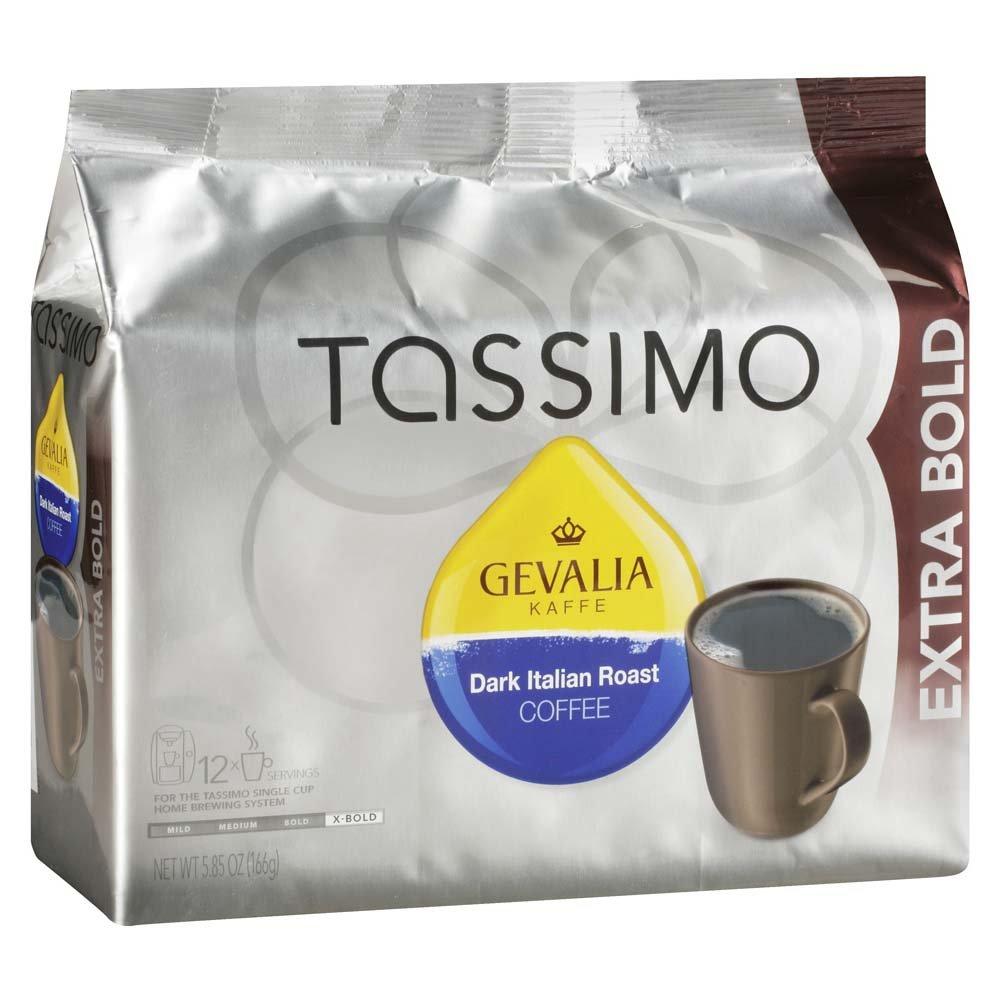 Gevalia Dark Italian Roast Coffee, Extra Bold Roast, T-Discs for Tassimo Brewing Systems, 12 Servings