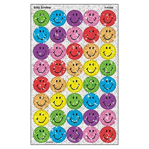 TREND enterprises, Inc. Silly Smiles superSpots Stickers-Sparkle, 160 ct -