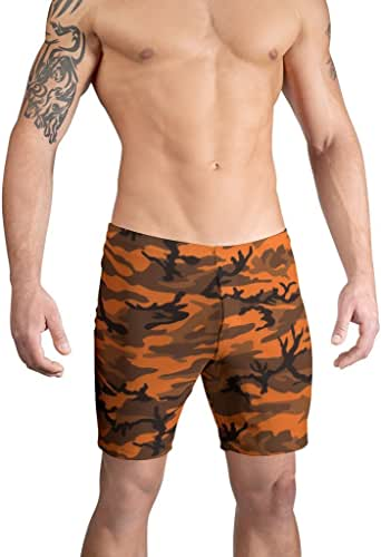 Vuthy Sim Brand Men's Swim Boardshorts in Deep Orange