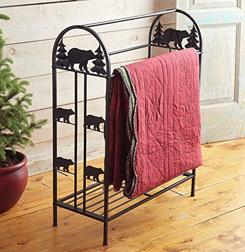 Black Bear Metal Quilt Rack (Quilt Metal Rack)