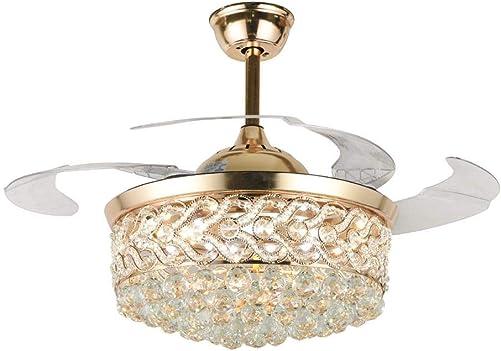 Modern 42″ Crystal Ceiling Fan Chandelier