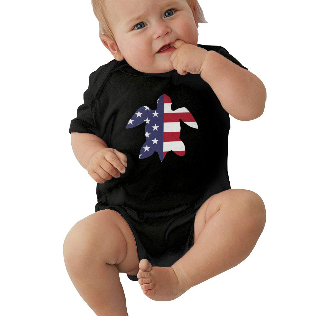 Newborn Baby Girl Boy Hawaii Island Turtle USA Flag1 Outfit Romper Jumpsuit Short Sleeved Bodysuit Tops Clothes