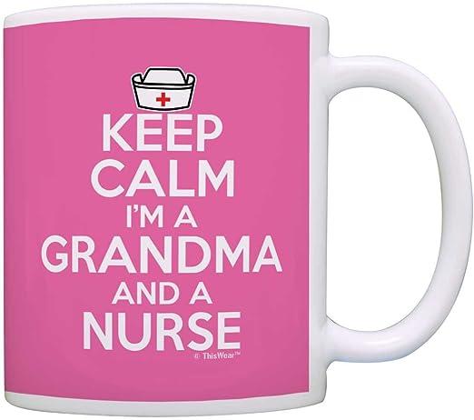I/'m A Grandma and A Nurse Retirement Coffee Tea Ceramic Mug Office Work Cup Gift
