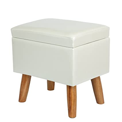 Attirant Eshow Ottoman And Storage Foot Stools Ottoman With Storage Decorative Shoe  Bench Leather Storage Ottoman Cube