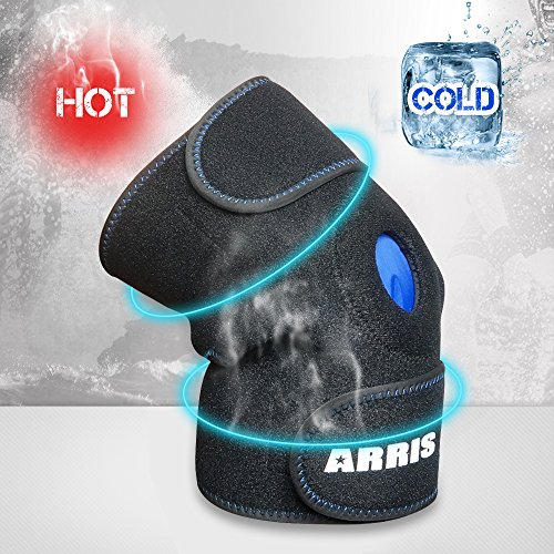 ARRIS Ice Pack for Knee Injuries, Reusable Hot Cold Therapy Knee Wrap Ice Knee Brace for Joint Pain, Bursitis Arthritis Knee Pain Relief, Meniscus Tear, Sprains & Swelling (Flexible and - Support Neoprene Wrap Knee Around