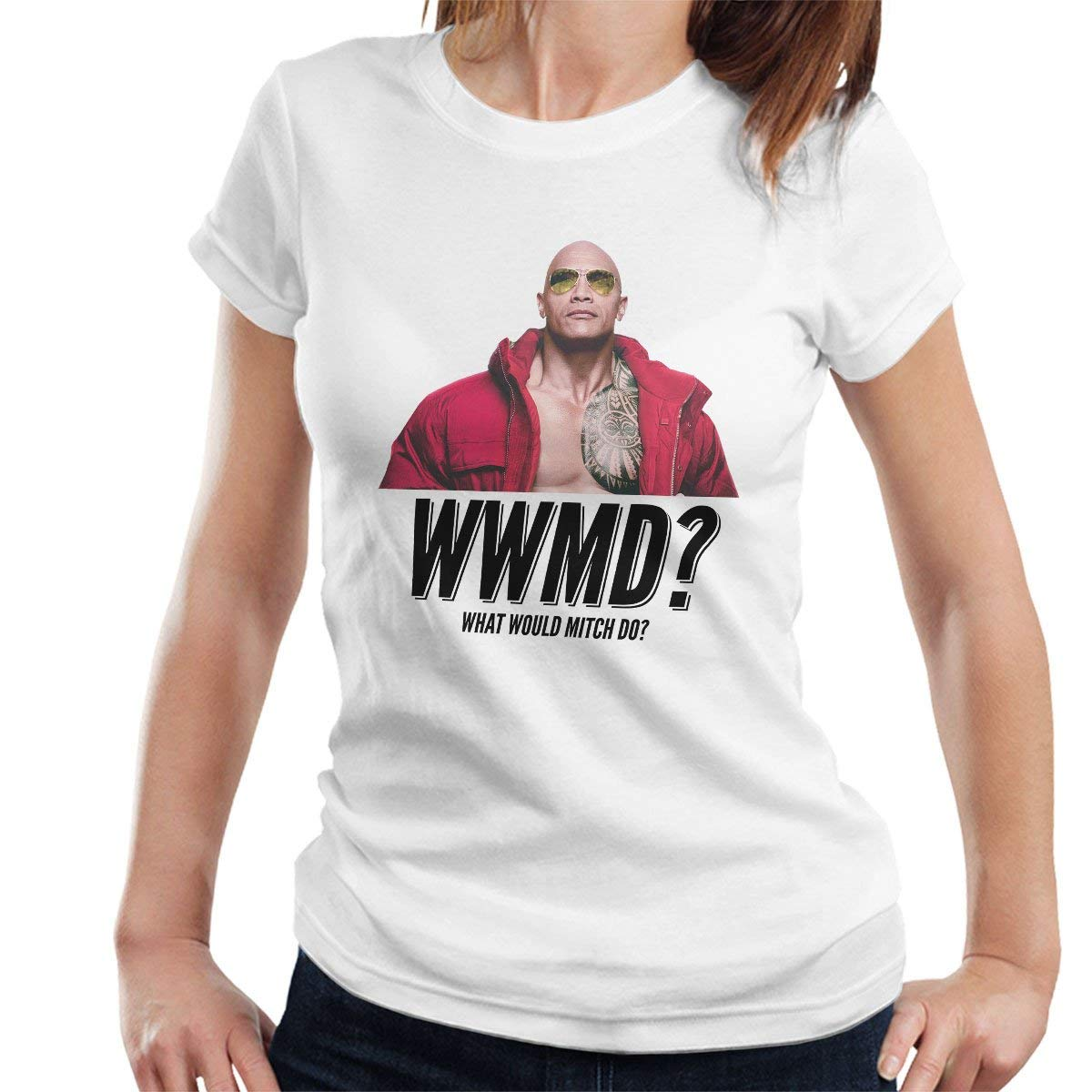 Baywatch What Would Mitch Do Dwayne The Rock Johnson Tshirt