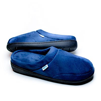 Amazon.com | As Seen On TV Elite Comfort Pedic Memory Foam Slippers (Xtra Large) Navy | Slippers