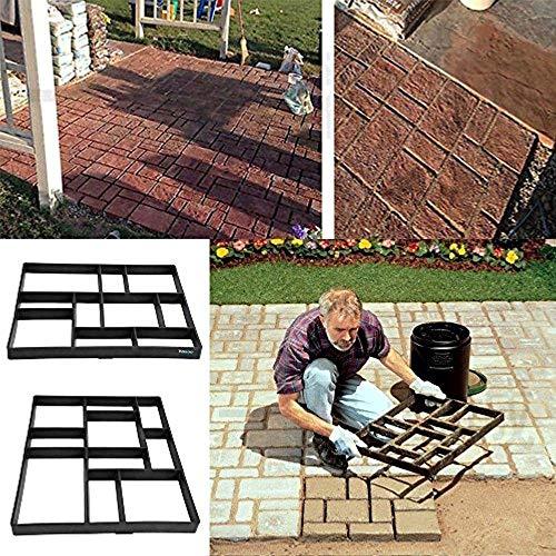 Estink Path Maker MoldDriveway Pathmate Stone Mold Paving Concrete Stepping Stone Mould Pavement Paver10 Grid