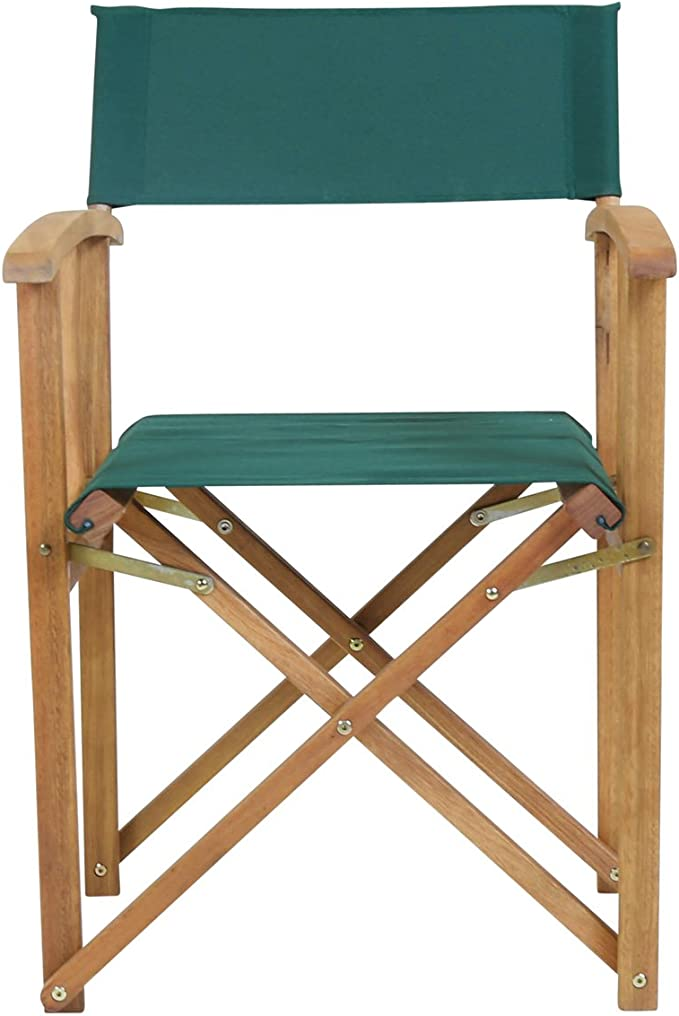 Charles Bentley Fsc Eucalyptus Wooden Pair Of Directors Chairs Green Amazon Co Uk Kitchen Home