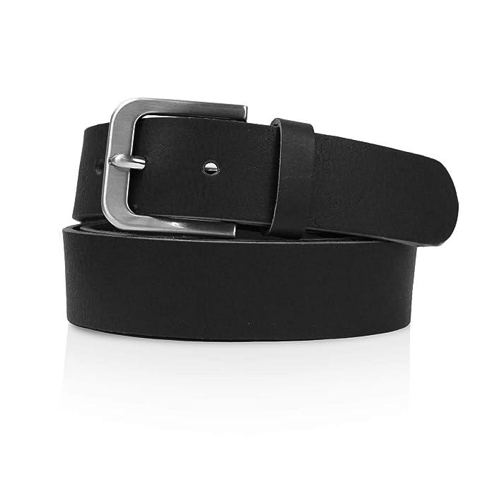 Glamexx24 Cinturón de cuero Jeans cinturón real Cinturón de ...