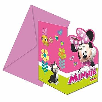Minnie Invitación Fiesta | 6 Piezas | Disney Mouse | Niños ...