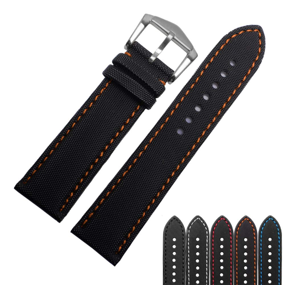 Choco&Man US Fiber Nnylon Watch Band Fit for Men's Blancpain/Citizen/Omega Watches