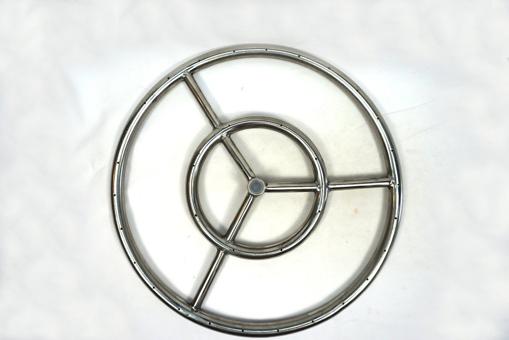 Stainless Steel Ring Burner Fire Pit 6 to 36