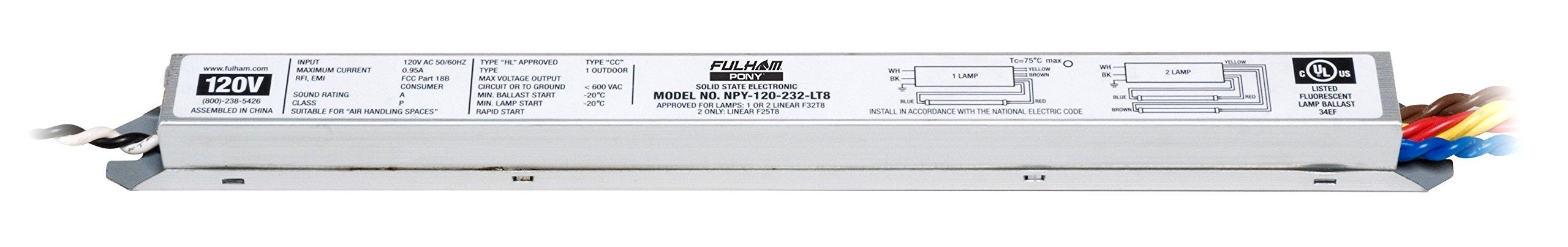 Fulham NPY-120-232-LT8 PONY Ballast
