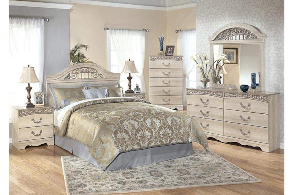 Amazing Buys Catalina Bedroom Set by Ashley Furniture - Includes Queen Bed, Dresser, Mirror and 2 Night Stands by Amazing Buys