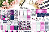 Me Time, Planner Calendar Sticker Kit 6 sheets on matte. Erin Corndren and Happy Planner sizes. Kiss cut, just peel and stick.