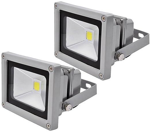 2pcs 10W LED Foco Proyector,ALPHA DIMA IP65 Impermeable Luz de ...