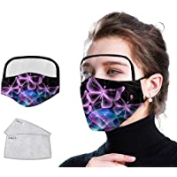 Mouth Cover Eyes and Face,Butterfly Dustproof Outdoor Face Protective Face Guard with Eyes Shield + 2 Filters