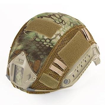 c7fb58b8a5b Hunting Explorer Tactical FAST MH PJ - Casco de camuflaje con accesorios  para casco militar de Wargame Army Airsoft, varios colores, MA: Amazon.es:  Deportes ...
