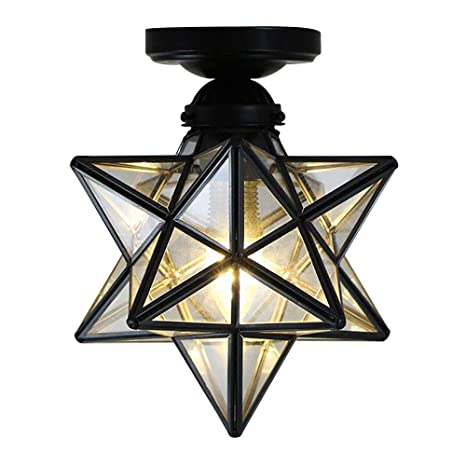 Kirin Moravian Star Flush Mount Ceiling 1 Light Mini 7 8