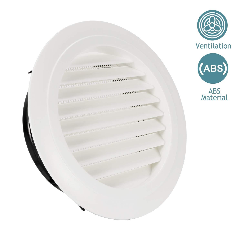 HG POWER 6 Grille de Ventilation Ronde ABS avec Anti Insectes Grille de Protection pour Conduits /ø150mm Bouche de Ventilation