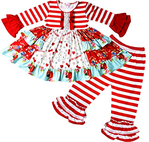 Boutique Clothing Girls Hello Kitty Be Mine Valentine Outfit Set 2T/S (Be Valentine Mine)