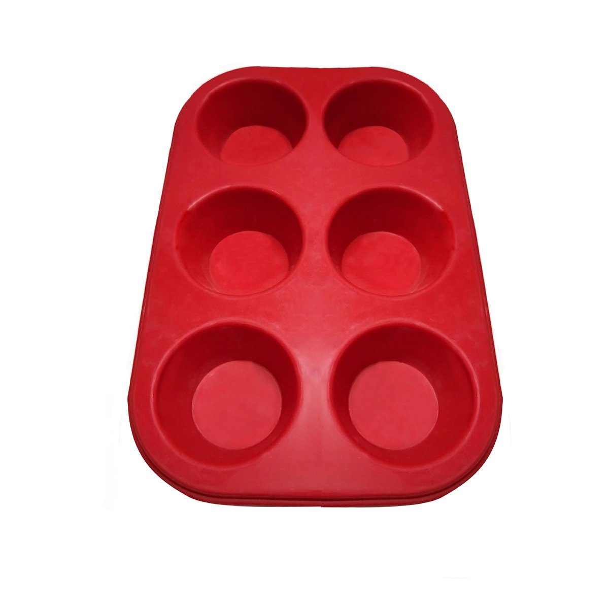 Aokinle Silicone Muffin Pan 6 Cup Non Stick Silicone Baking Mold for Cupcakes,BPA Free Cupcake Tray,Cake Baking Tools,Muffins and Brownies