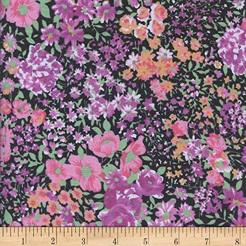 - Newcastle Fabrics Printed Flannel Garden Fushcia Fabric by the Yard