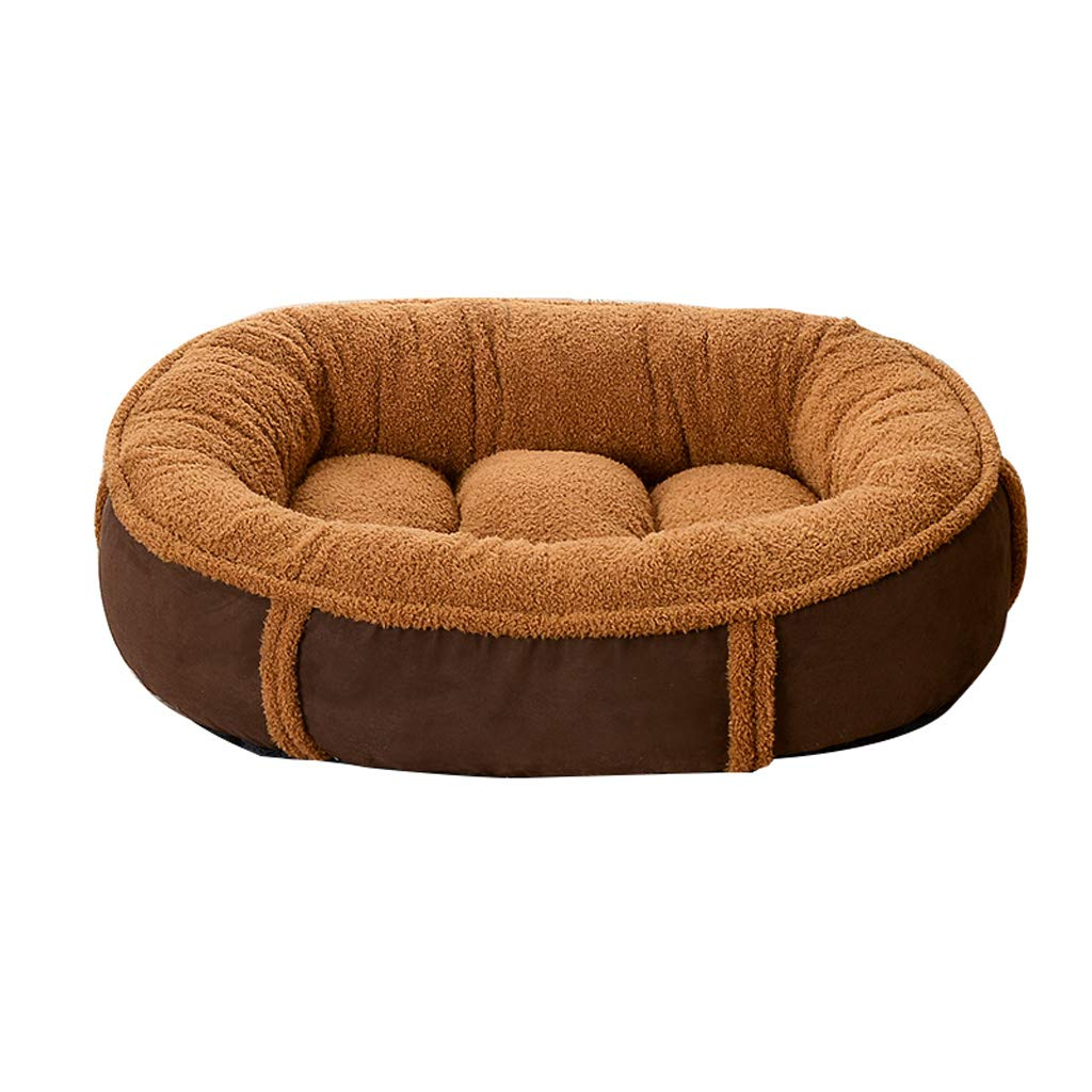 Coffee S 604516cm Coffee S 604516cm D_HOME Kennel, Removable, Dog Mat, Large Medium Dog, Cat Litter, Four Seasons, Pet Nest, Warm, Strong And Breathable, Suitable For Cats(bluee, Coffee, White) (color   Coffee, Size   S 60  45  16cm)