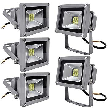 Leetop 5 X 20W Blanco Frio Luz Proyector LED Foco Proyector, IP65 ...