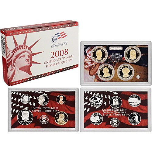 2008 S Silver US Proof Set 14 PCS Come in Original US Mint Packaging Proof