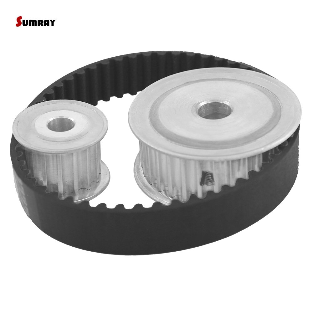 SUMRAY HTD5M Timing Pulley Belt Kit Reduction 1:2 5M 15T 30T Pulley Wheel Engraving Machine Accessories-Belt Gear kit