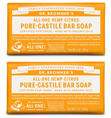 Dr. Bronner's Pure-Castile Bar Soap – Citrus (2 Pack)