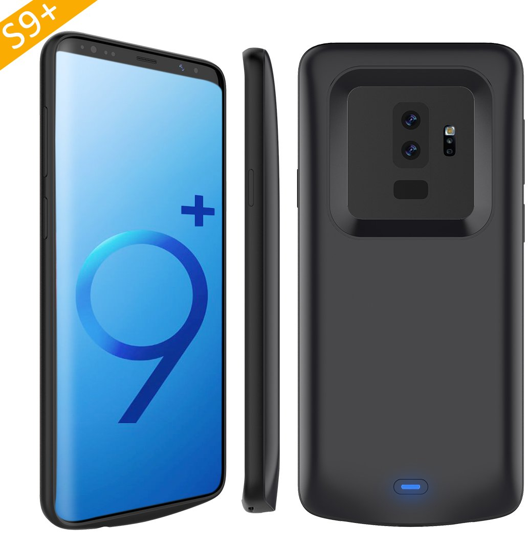Galaxy S9 Plus Battery Case, Stoon 5200mAh Portable Charger Case Rechargeable Extended Battery Pack Protective Backup Charging Case Cover for Samsung Galaxy S9 Plus(6.2 Inch) (Black)