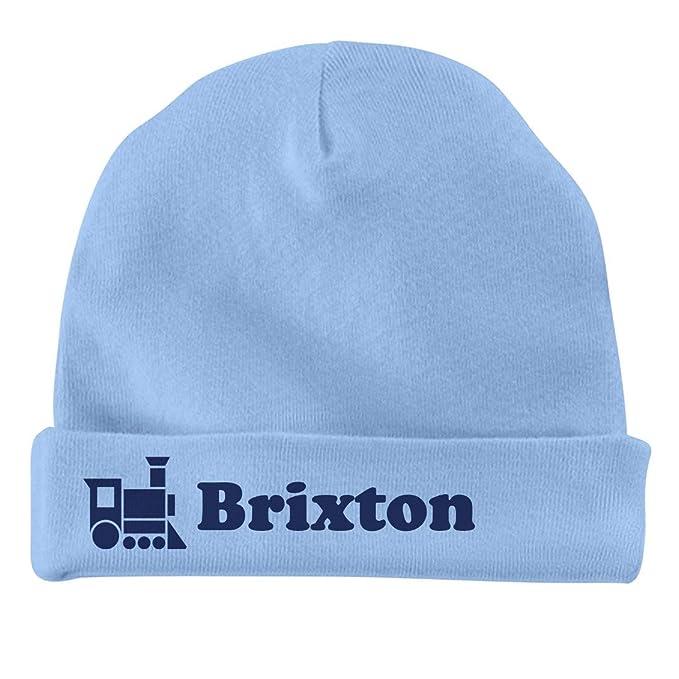 Amazon.com  FUNNYSHIRTS.ORG Baby Boy Brixton Train Hat  Infant Baby ... 22171bef723
