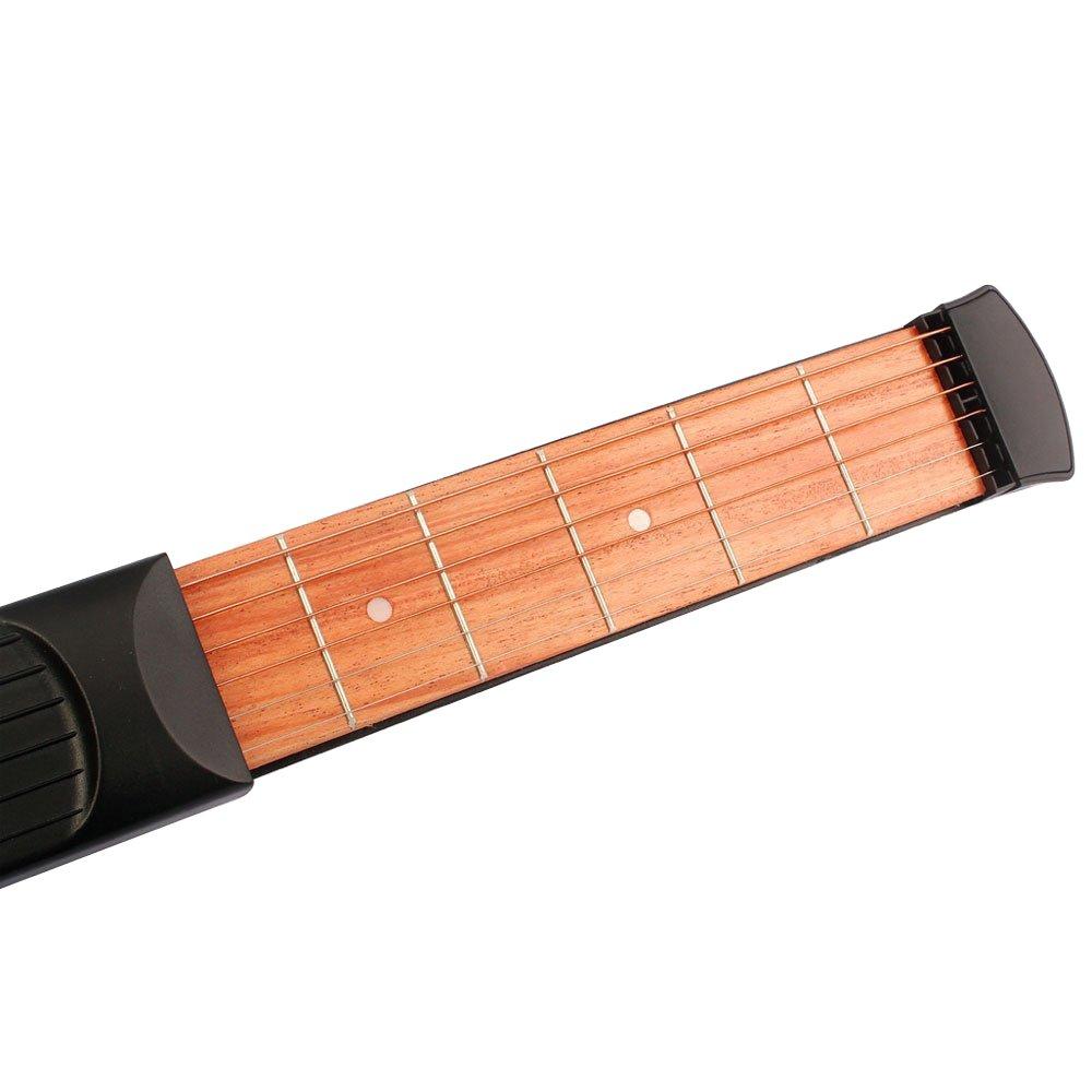 en bois Poche Guitare Guitare Portable Practise Outil Gadget pour débutant Chord Trainer # 81073