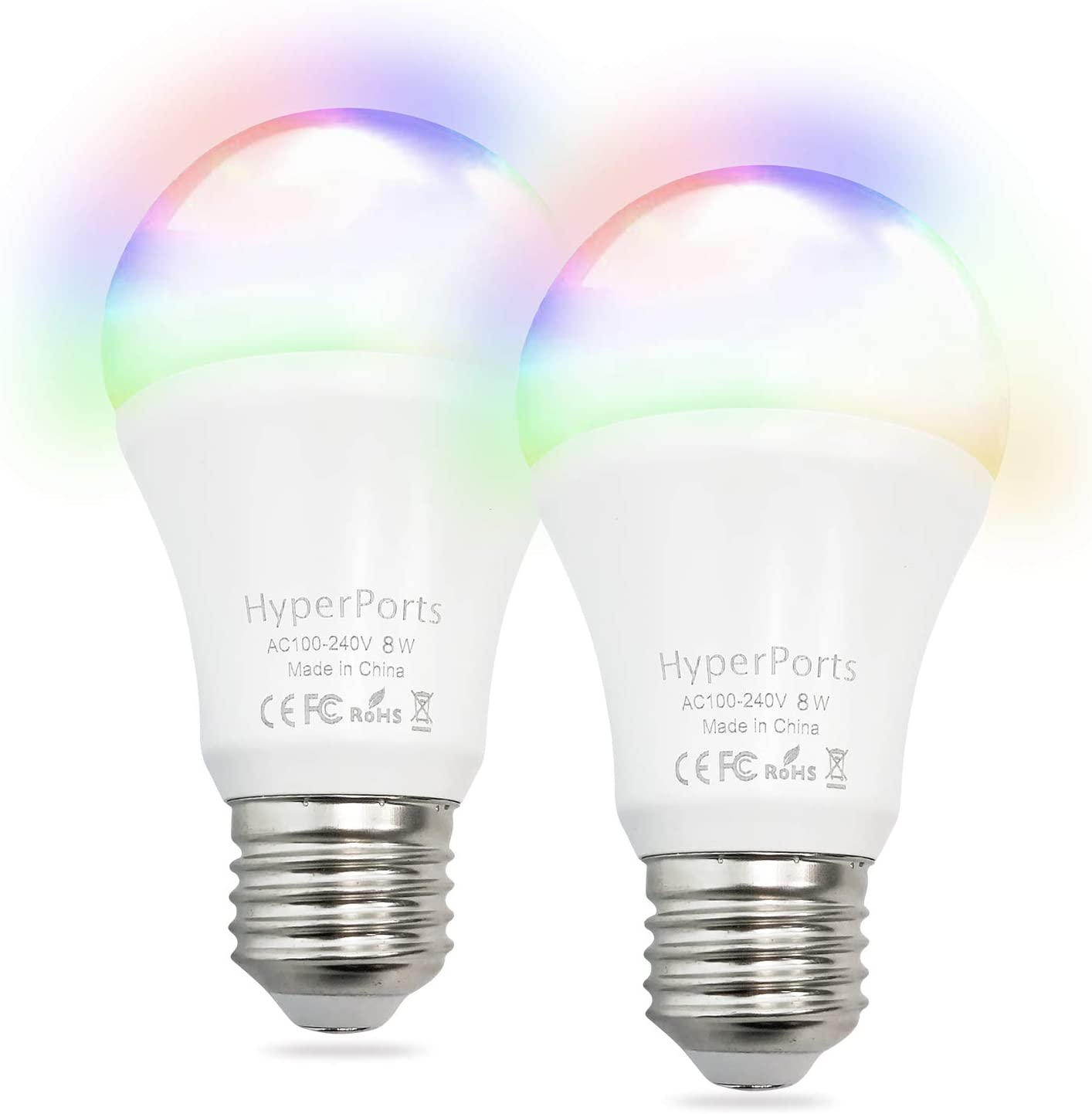 RGB /& CCT 2700-6500K Color Changing Tramsmart E26 BR30 LED Smart Light Bulb No Hub Required 900LM 2 Pack 80w Equivalent WiFi Smart Light Bulbs Compatible with Alexa and Google 11W