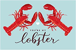 product image for You're my lobster - Blue (12x18 Art Print, Wall Decor Travel Poster)