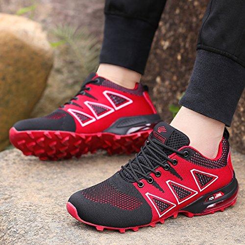 all'Aperto Interior 1 Scarpe Nero Corsa Ginnastica da tqgold Sportive Running Uomo Sneakers Fitness Rosso vnz1TxO