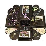 Tumao Kreative Überraschung Explosion Box DIY Fotoalbum Handgemachtes Scrapbook Faltendes Foto-Album, Geburtstag Jahrestag Valentine Hochzeit Geschenk,für Hochzeit, Muttertag, DIY Geschenk (Schwarz)