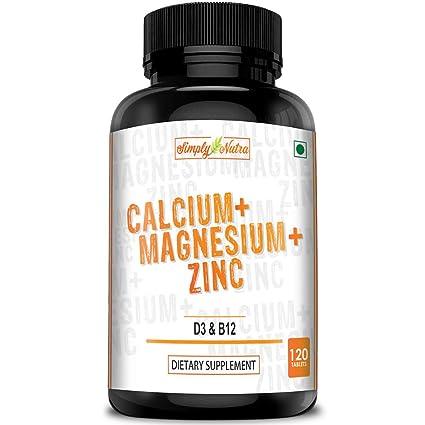 Buy Simply Nutra Calcium Magnesium Zinc D3 B12 Tablets 120
