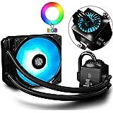 DEEPCOOL Captain RGB-Fan 120 Liquide Refroidisseur,120mm Radiateur,Watercooling,Éclairage RGB Avancé,Contrôle par Logiciel,All-in-One Liquid CPU Cooler,Ventilateurs de processeur PC