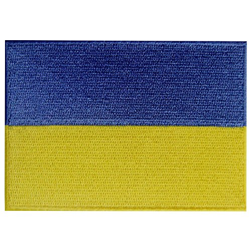 Ukraine Flag Embroidered Patch Ukrainian Iron On Sew On National Emblem]()