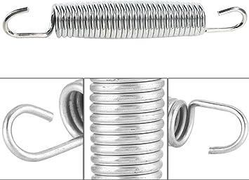 200 N Upper Bounce Resortes de Trampol/ín Resistentes al /Óxido de Metal 137mm 28 Espirales Wakects 10 Piezas Muelles para Cama El/ástica