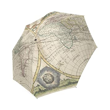 Enne compacto paraguas mapa del mundo paraguas paraguas de viaje plegable lluvia resistente al viento paraguas